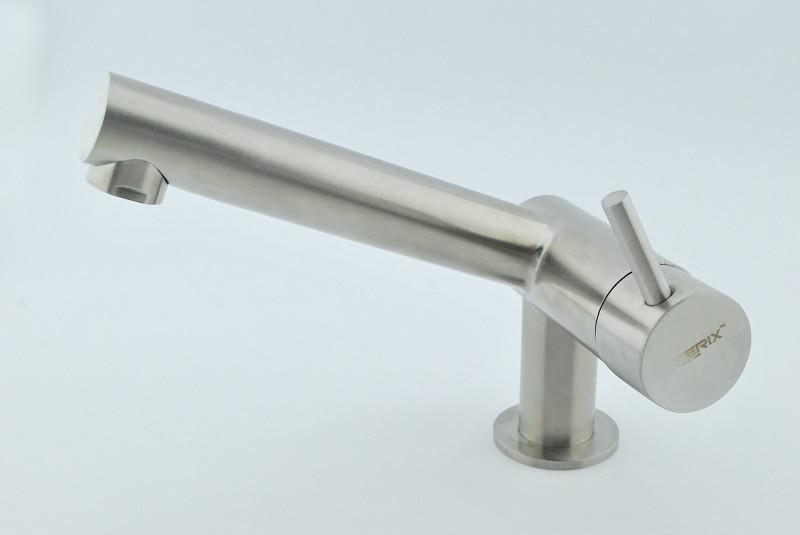 Змішувач для умивальника Zerix 71007 з нержавіючої сталі