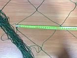 Капронова сітка осередок 140мм нитка 1,5 мм розмір 4,4 х 26м в робочому стані, фото 2