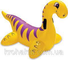 """Надувной детский плотик """"Динозавр"""" Intex 56559, размером 121x65 см."""