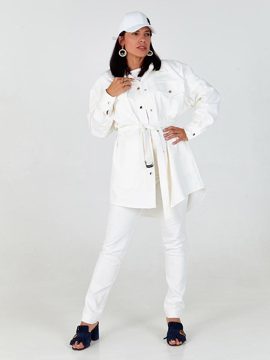 Брюки женские прямые джинсовые айвори SOLH MKSH2642