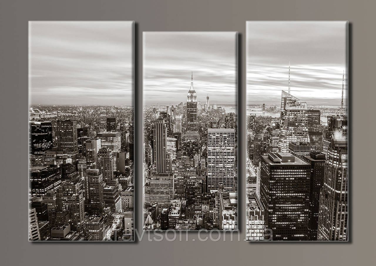 "Модульная картина на холсте из 3-х частей ""NewYorkCity"" ( 54х80 см )"