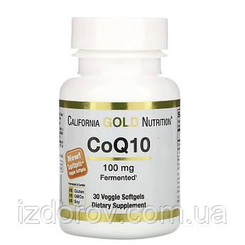 California Gold Nutrition, CoQ10, 100 мг, Coenzyme Q10, 30 растительных капсул