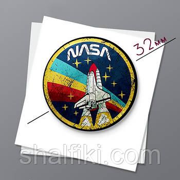 """NASA / НАСА"" магнит круглый Ø32 мм"
