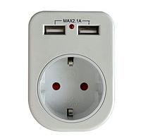 Розетка с двумя USB гнездами LM681
