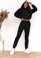 Модный женский спортивный костюм с укороченной кофтой (Норма), фото 4