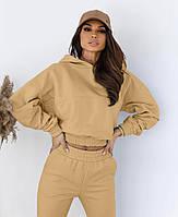 Модный женский спортивный костюм с укороченной кофтой (Норма), фото 8