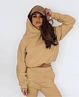 Модный женский спортивный костюм с укороченной кофтой (Норма), фото 9