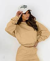 Модный женский спортивный костюм с укороченной кофтой (Норма), фото 10
