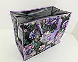 Сумка хозяйственная , полипропиленовая,  с цветным рисунком  №4 Цветы (10 шт), фото 4