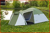 Палатка туристическая Presto Monsun 3 места (зеленый) Трехместная Двухслойная Клеенные швы Тамбур