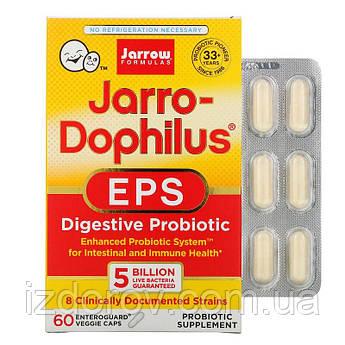 Jarrow Formulas, Пробиотики 5 миллиардов Jarro-Dophilus EPS, 60 растительных капсул. США