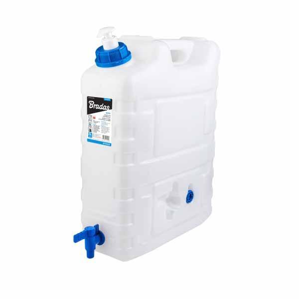 Канистра для воды, 20л, с краном и дозатором мыла, KTZD20 BRADAS