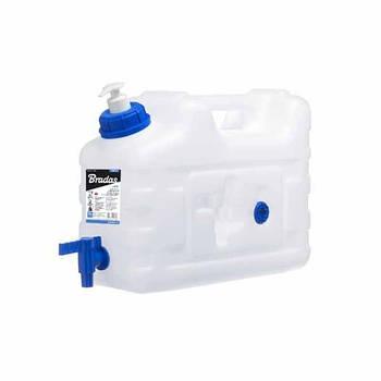 Канистра для воды, 10л, с краном и дозатором мыла, KTZD10 BRADAS Марка Европы