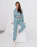 Модный спортивный костюм женский укороченная кофта с корсетом р-ры 42-48 арт. 2150