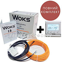 11.0 м2 WOKS-18 Комплект кабельної теплої підлоги під плитку з Е51.