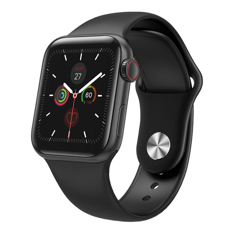 Розумні смарт-годинник Smart Watch PRO W58 (тонометр, пулсь, кисень) Чорний