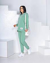 Женский спортивный костюм  с удлиненной кофтой Турецкая двунитка Размер 42 44 46 48 50 52 В наличии 5 цветов