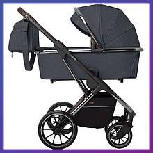 Дитяча універсальна коляска 3в1 з автокріслом CARRELLO Aurora CRL-6502/1 (3in1) Iron Grey сіра + дощовик