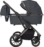 Детская универсальная коляска 3в1 с автокреслом CARRELLO Aurora CRL-6502/1 серая с серебристой рамой +дождевик, фото 2