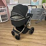 Детская универсальная коляска 3в1 с автокреслом CARRELLO Aurora CRL-6502/1 серая с серебристой рамой +дождевик, фото 6