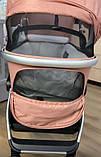 Детская универсальная коляска 3в1 с автокреслом CARRELLO Optima CRL-6504 (3in1) Hot Pink розовая в льне, фото 3