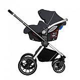 Детская универсальная коляска 3в1 с автокреслом CARRELLO Optima CRL-6504 (3in1) Platinum Grey серая в льне, фото 3