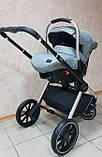 Детская универсальная коляска 3в1 с автокреслом CARRELLO Optima CRL-6504 (3in1) Platinum Grey серая в льне, фото 9