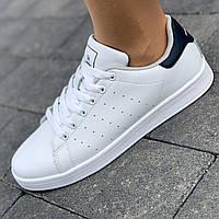 Белые кроссовки кожаные женские кеды эко кожа в стиле Adidas Stan Smith брендовые удобные легкие 36 разме 2021