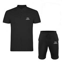 Мужской комплект поло/футболка и шорты Субару (Subaru), поло и шорты Subaru,мужская тенниска, копия