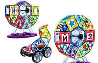 Дитячий магнітний конструктор GBL 71, ( 71 дит.), транспорт, карусель та ін., фото 1