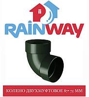 RAINWAY 90/75 мм Відведення двухмуфтовий 87 градусів 75 мм