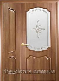 Полуторні двері Рока скло з малюнком Р1