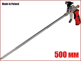 Пистолет для монтажной пены с удлиненным соплом 500 мм алюминиевый Yato YT-67460