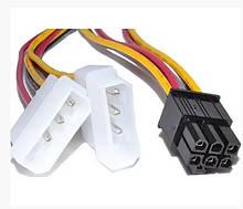 Переходник для видеокарты c 2 по 4 pin MOLEX - на 6pin для PCI-E