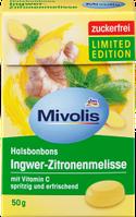 Mivolis Bonbon Ingwer-Zitronenmelisse Леденцы без сахара имбирь мелисса c экстрактами 18 трав 50 г