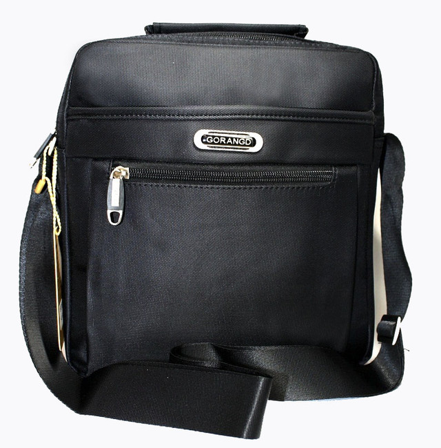 Стильная сумка для мужчин из искусственной кожи черного цвета YR 2091-2