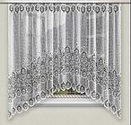 Тюль штора арка на кухню Белая 165*315 код аб-56
