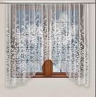 Тюль штора арка на кухню Белая 165*300 код аб-57