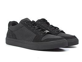Летние кроссовки кеды повседневные кожаные черные матовые мужская обувь Rosso Avangard Nice Black Perf TPR