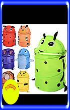 Корзинка для хранения игрушек,разные животные,яркие цвета