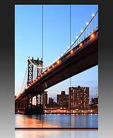 "Ширма деревянная ""Манхэттен. Вечерний мост"""