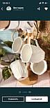 Набор фарфоровых кружек (4 шт) 300мл Naturel на бамбуковой подставке, фото 2