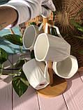 Набор фарфоровых кружек (4 шт) 300мл Naturel на бамбуковой подставке, фото 4