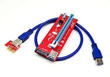 Райзер v007S PCI-E1x to 16x PCE 164P-N03 Riser для видеокарт 60см sata сата