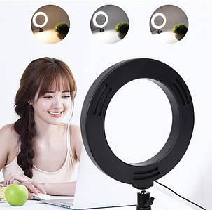 Кольцевая светодиодная led лампа селфи кольцо 30 см с держателем для съемок с телефона с USB  для блогеров