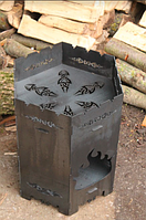 Печь для сковороды и казана с прорезями для шампуров на огне туристическая Печь подарочная