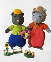 """Вязаные игрушки в подарок """"Пара мышек """" 30см"""