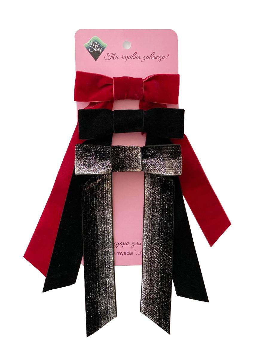 Набор бархатных бантиков - украшение для волос от my scarf