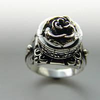 """Серебряное кольцо """"Королевская роза"""" с цирконом от WickerRing"""