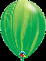 "Гелиевый шар 12"" 30см агат зеленый"